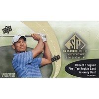 2012 Upper Deck SP Game Used Golf Hobby 4 Box Case