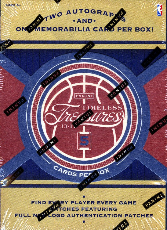 2013/14 Panini Timeless Treasures Basketball Hobby 20 Box Case