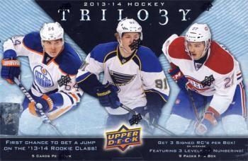 2013/14 Upper Deck Trilogy Hockey Hobby 8 Box Case