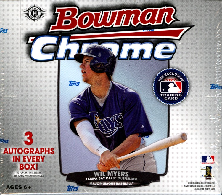 2013 Bowman Chrome Baseball Jumbo (HTA) 8 Box Case