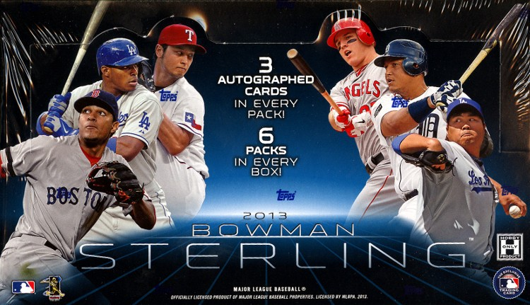 2013 Bowman Sterling Baseball Hobby 8 Box Case