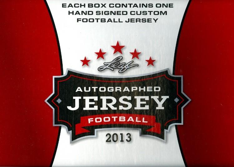 2013 Leaf Autographed Football Jersey Ed Football 6 Box Case