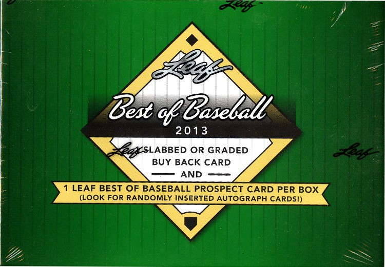 2013 Leaf Best of Baseball Hobby Box