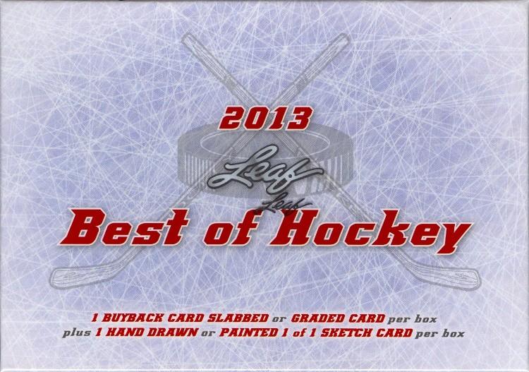 2013 Leaf Best of Hockey Hobby 3 Box Case