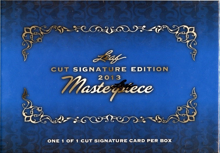 2013 Leaf Masterpiece Cuts Trading Cards Box