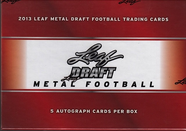 2013 Leaf Metal Draft Football Hobby 12 Box Case