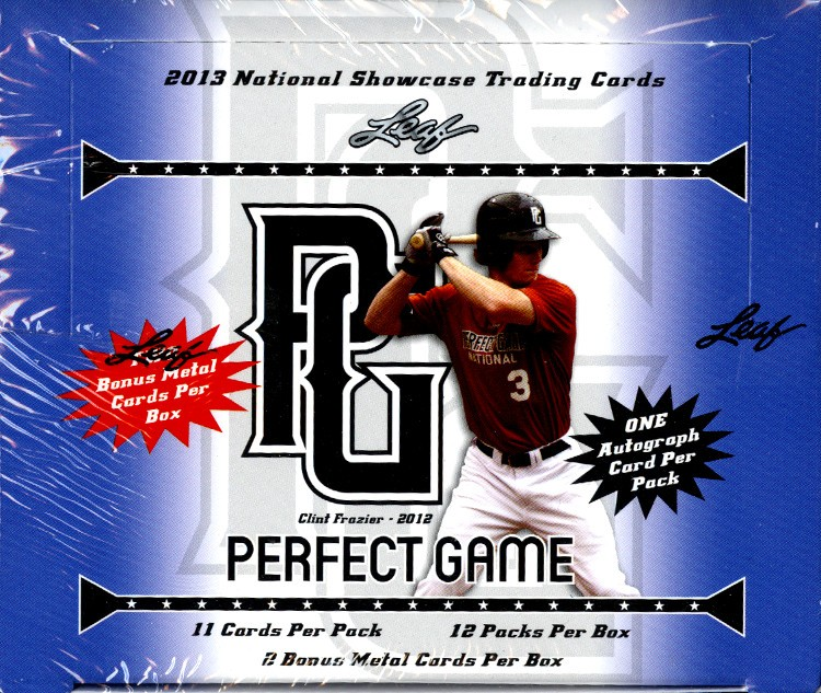 2013 Leaf Perfect Game Showcase Baseball 12 Box Case