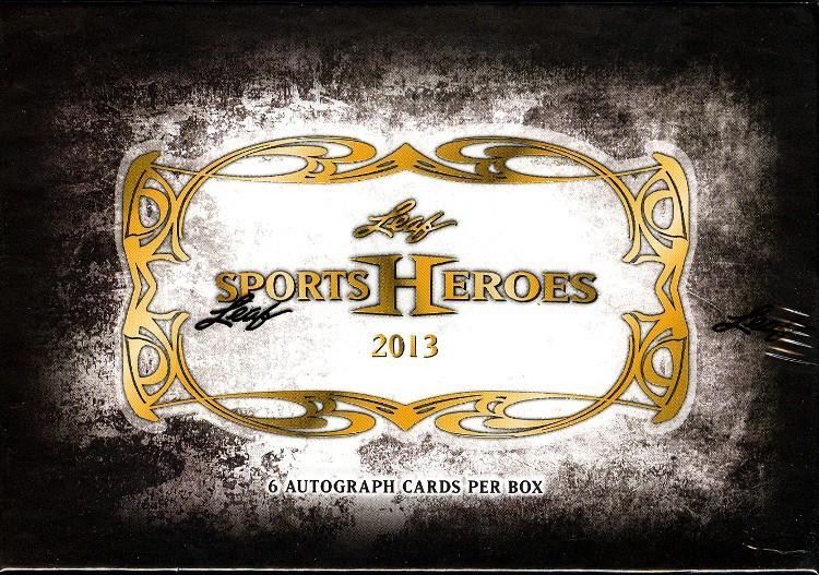 2013 Leaf Sports Heroes Hobby 12 Box Case