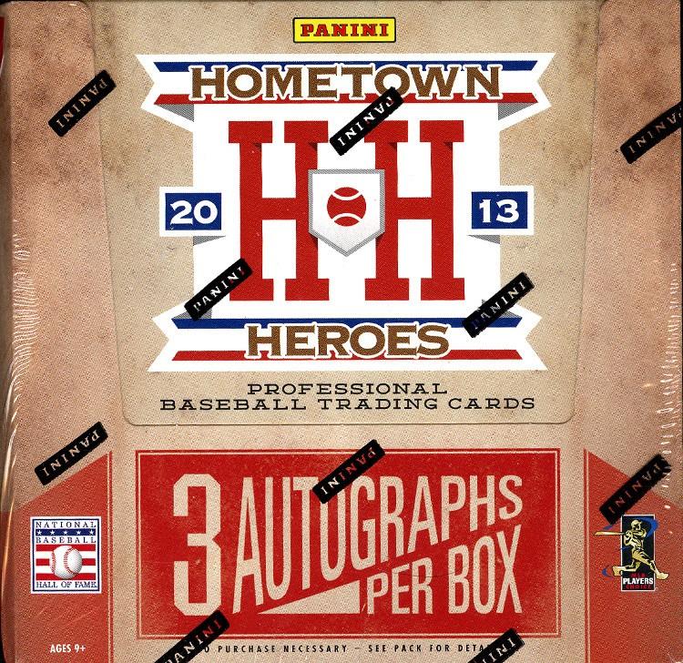 2013 Panini Hometown Heroes Baseball Hobby 10 Box Case