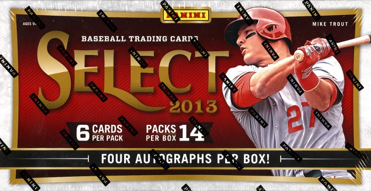 2013 Panini Select Baseball Hobby 12 Box Case