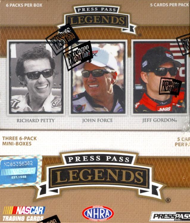 2013 Press Pass Legends Racing Hobby 12 Box Case