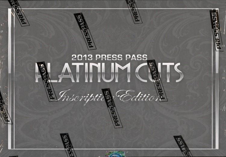 2013 Press Pass Platinum Cuts Inscription Edition Hobby Box