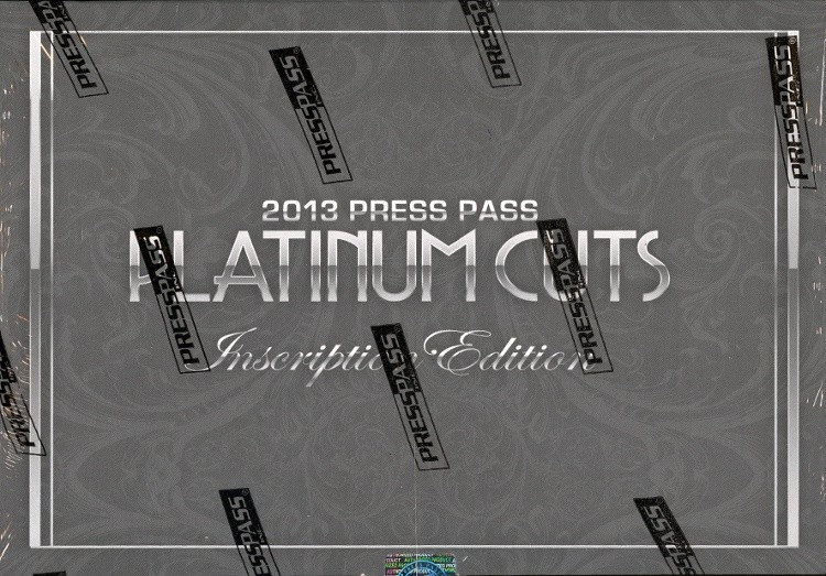 2013 Press Pass Platinum Cuts Inscription Edition Hobby 12 Box Case