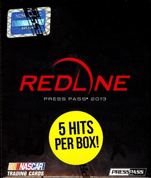 2013 Press Pass Redline Racing Hobby 10 Box Case