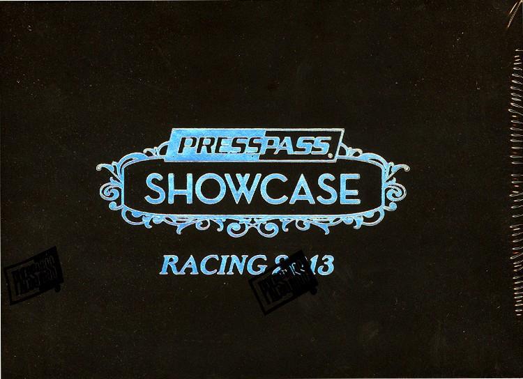 2013 Press Pass Showcase Racing Hobby 12 Box Case