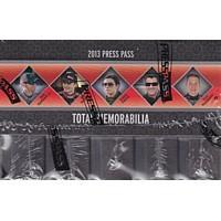 2013 Press Pass Total Memorabilia Racing Hobby 10 Box Case