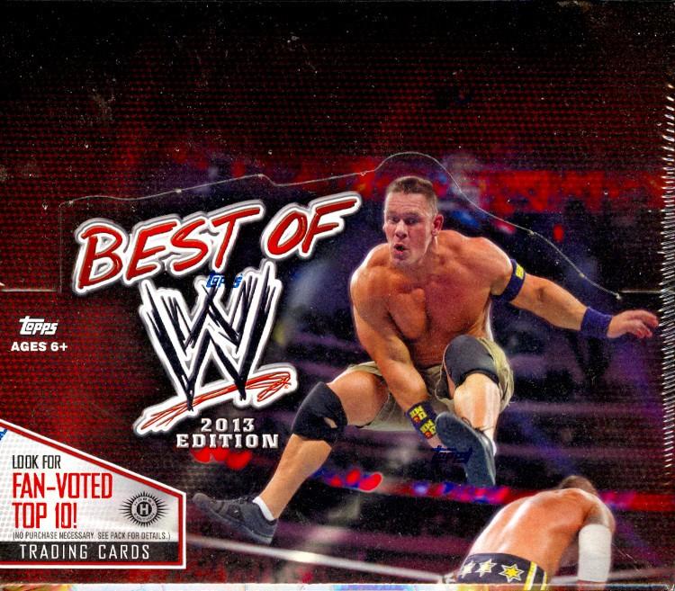 2013 Topps Best Of WWE Hobby 8 Box Case