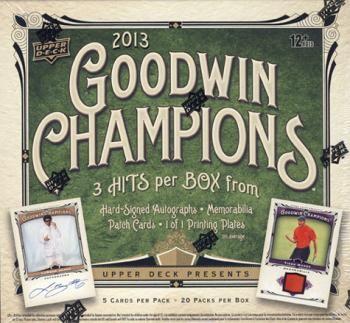 2013 Upper Deck Goodwin Champions Baseball Hobby 16 Box Case