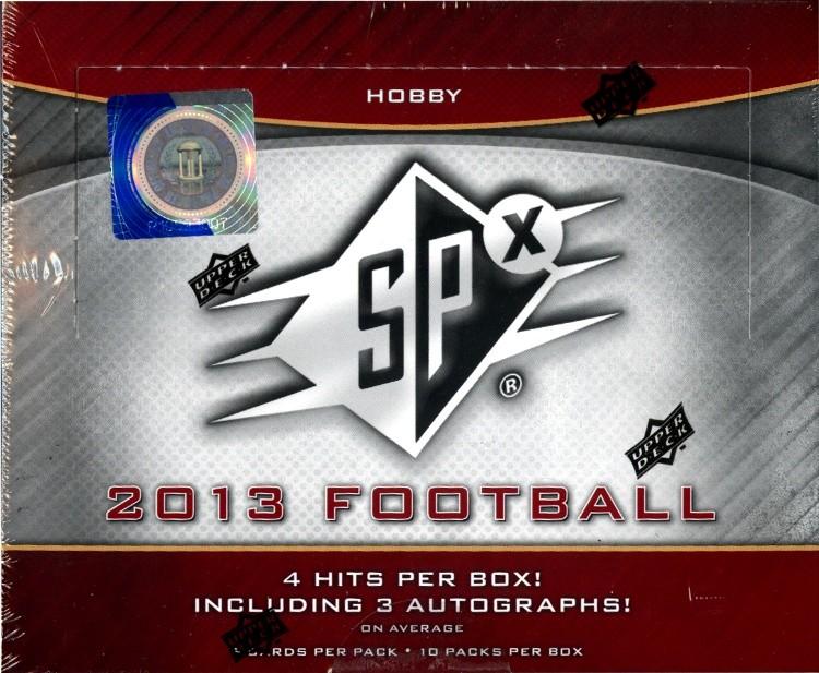 2013 Upper Deck SPX Football Hobby 8 Box Case