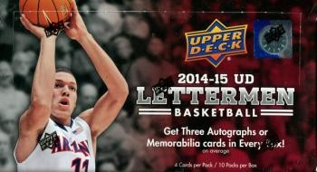 2014/15 Upper Deck Letterman Basketball Hobby Box