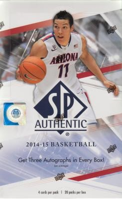 2014/15 Upper Deck SP Authentic Hobby Basketball Box