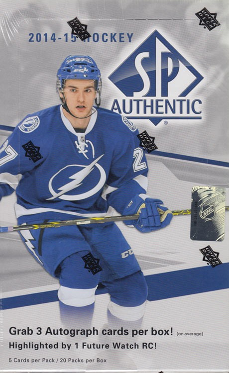 2014/15 Upper Deck SP Authentic Hobby Hockey 12 Box Case