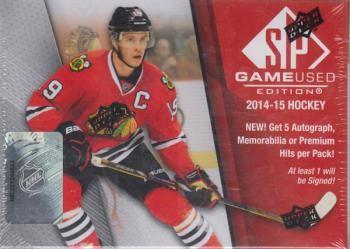2014/15 Upper Deck SP Game Used Hockey Hobby 10 Box Case