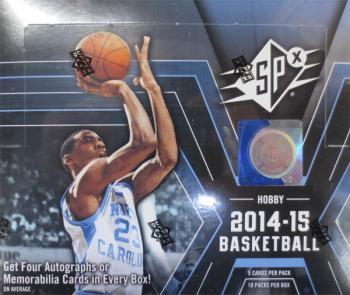 2014/15 Upper Deck SPx Basketball Hobby 16 Box Case