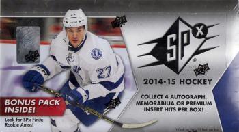 2014/15 Upper Deck SPx Hockey Hobby 16 Box Case