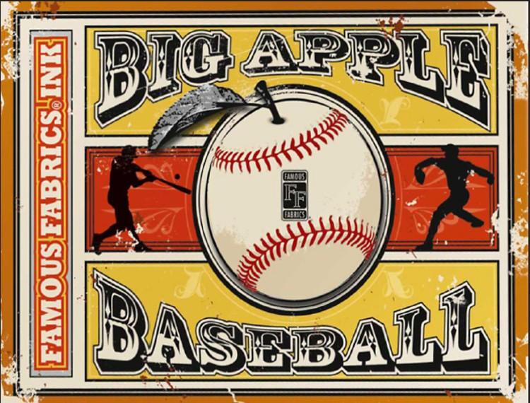 2014 Famous Fabrics Ink - Big Apple Baseball 10 Box Case