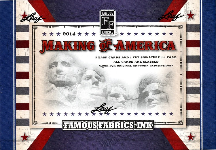 2014 Famous Fabrics Ink - Making Of America 5 Box Case