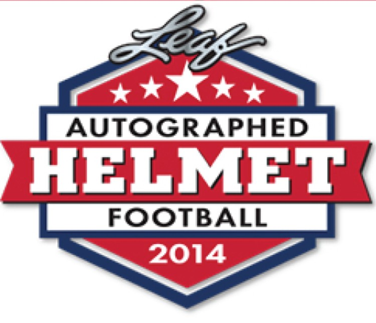 2014 Leaf Autographed Full Sized Helmet Football Box