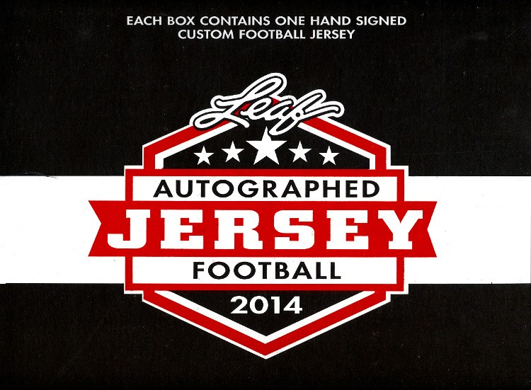 2014 Leaf Autographed Football Jersey Edition Football Box
