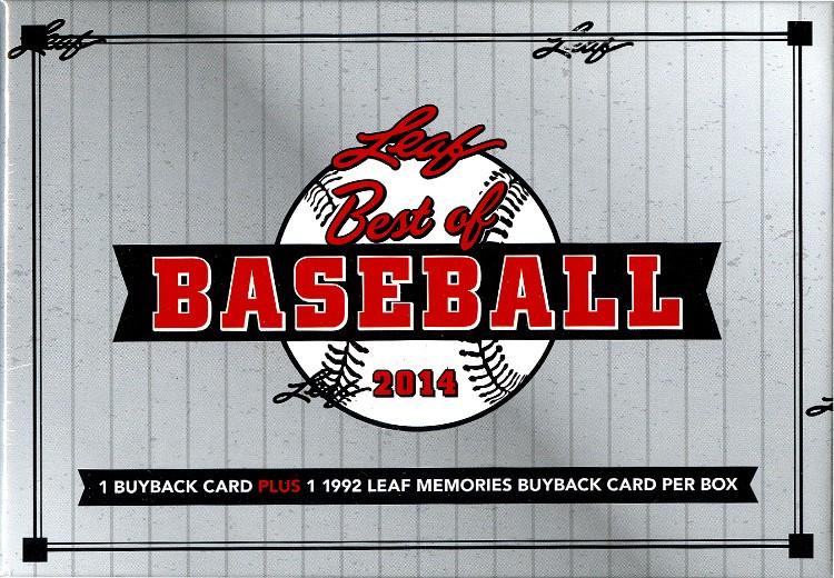2014 Leaf Best of Baseball Hobby 3 Box Case