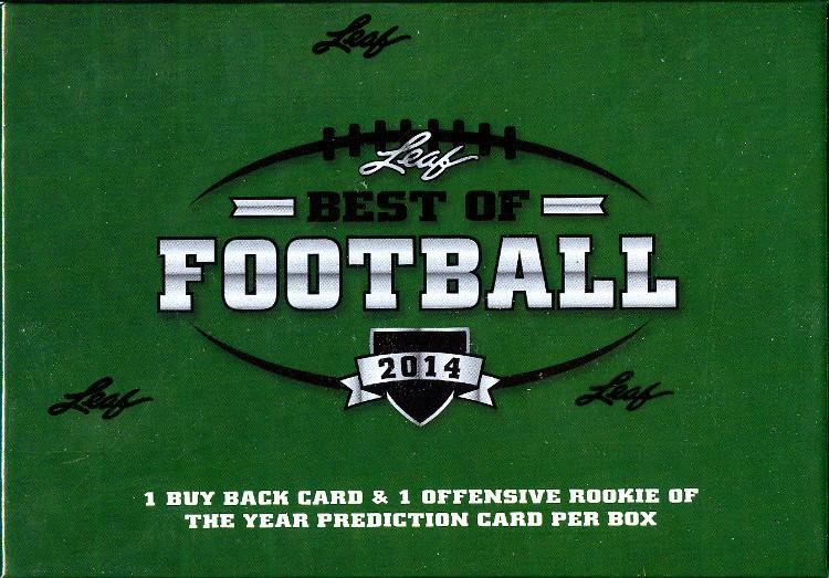 2014 Leaf Best of Football Hobby 3 Box Case