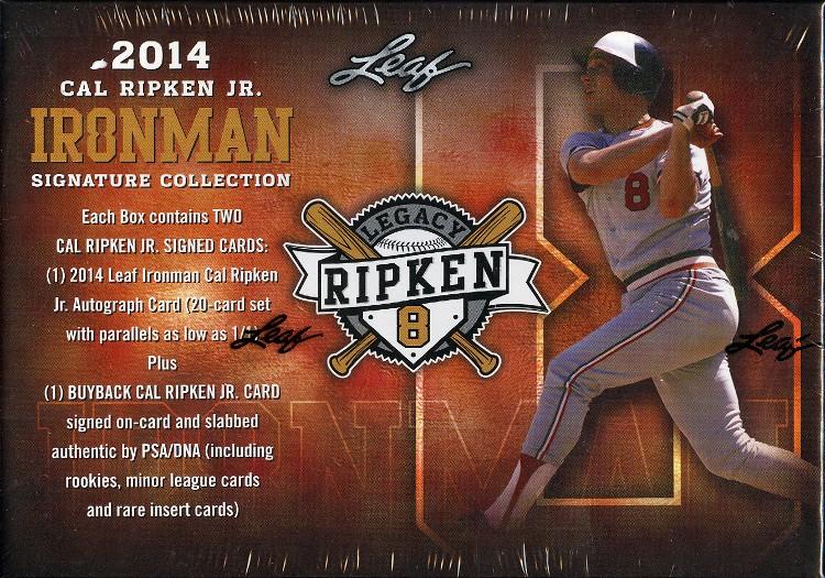 2014 Leaf Cal Ripken Ironman Signature Collection Baseball 10 Box Case