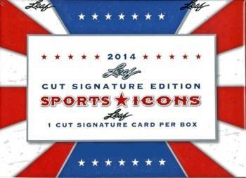 2014 Leaf Sports Icons Cut Signature Box