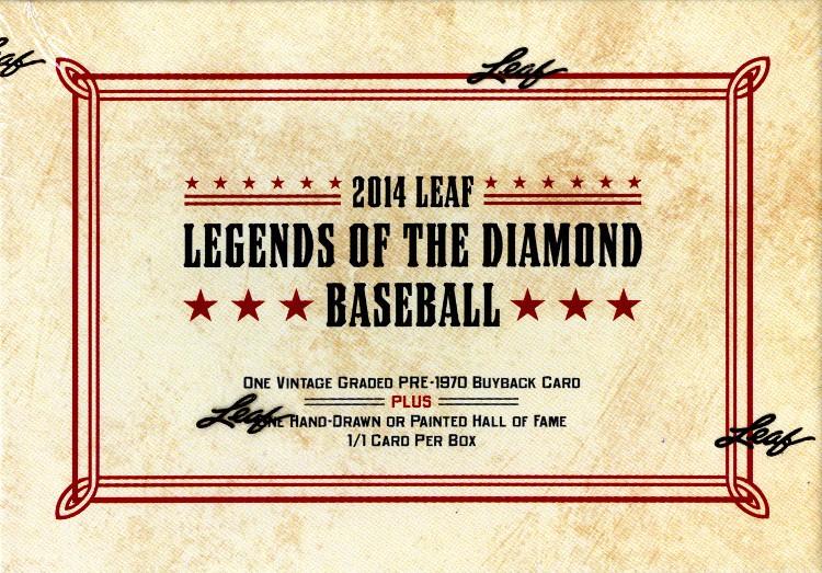 2014 Leaf Legends of the Diamond Baseball Box