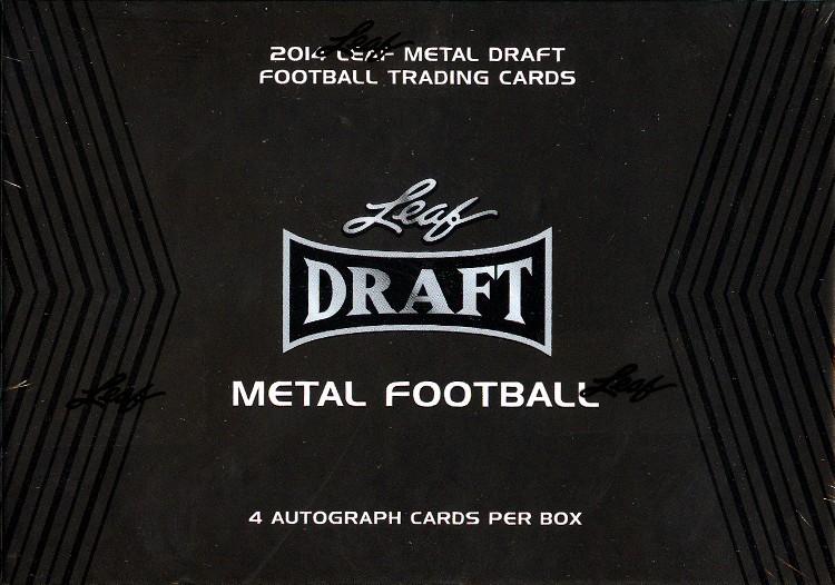 2014 Leaf Metal Draft Football Hobby 15 Box Case