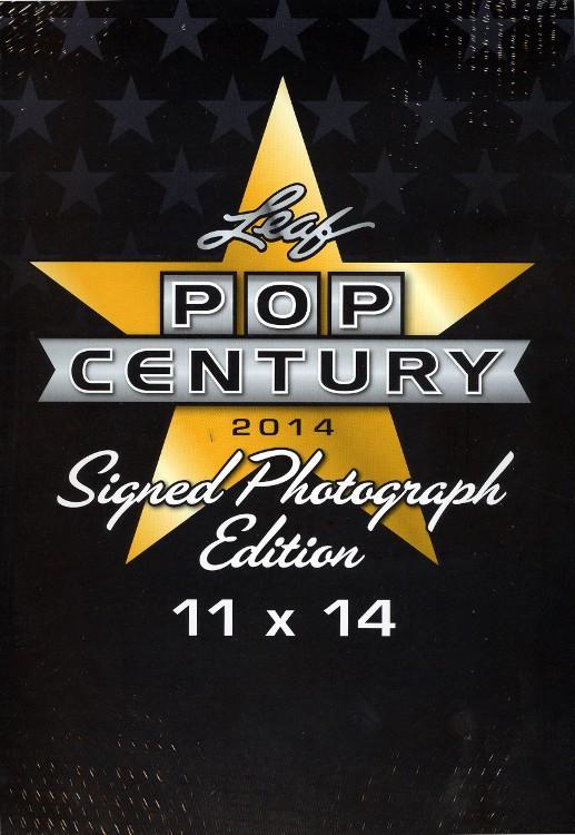 2014 Leaf Pop Century Signed 11x14 Photograph Edition 6 Box Case
