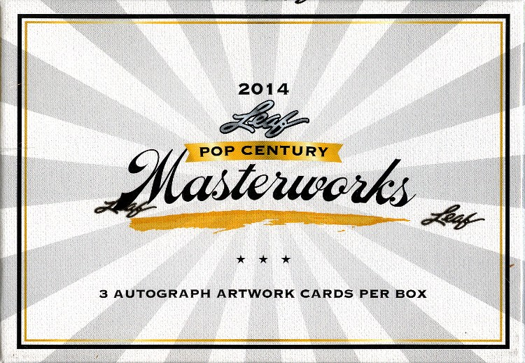 2014 Leaf Pop Century Masterworks Trading Cards Box