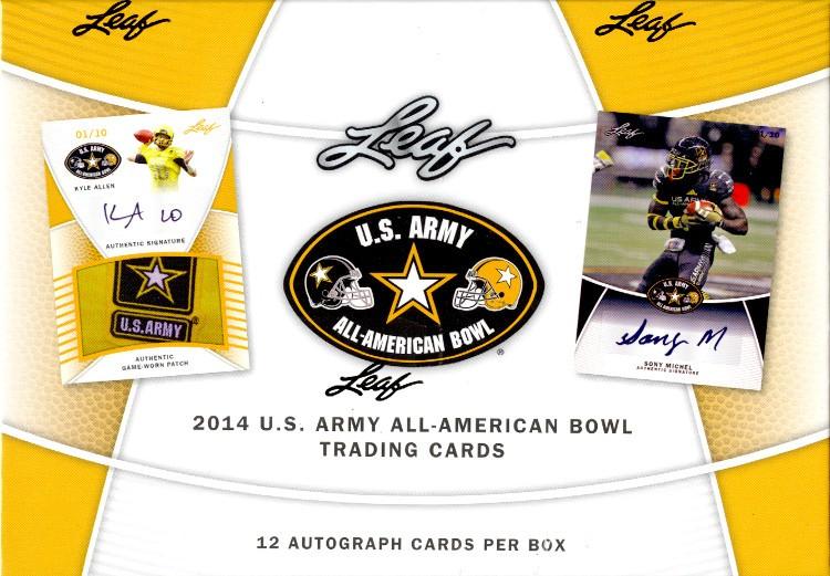 2014 Leaf US Army All American Football 12 Box Case