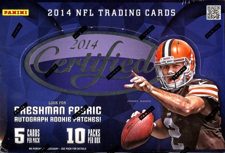 2014 Panini Certified Football Hobby 8 Box Case