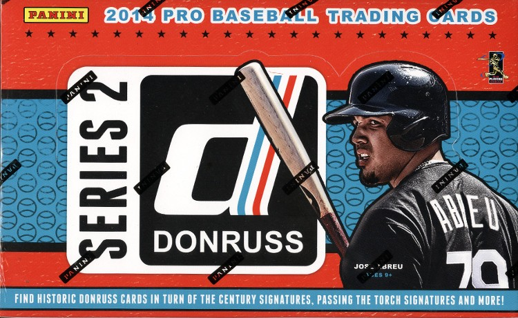 2014 Panini Donruss Series 2 Baseball Hobby 16 Box Case