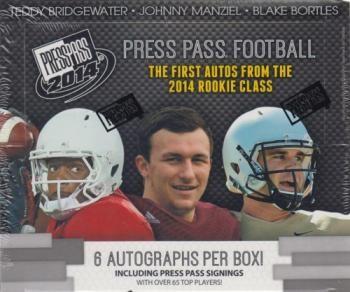 2014 Press Pass Football Hobby 10 Box Case