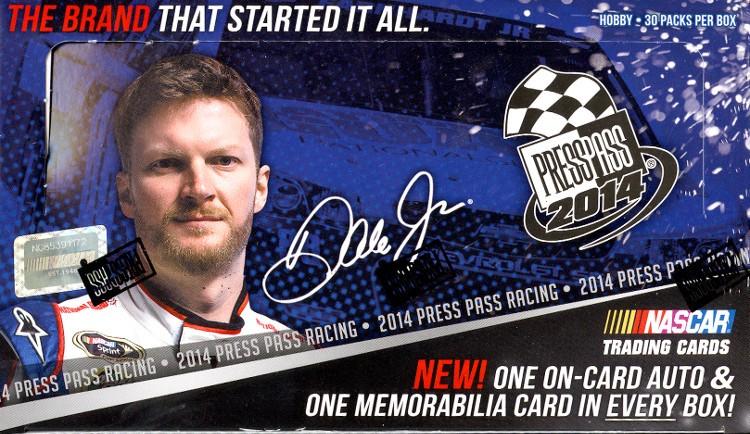 2014 Press Pass Nascar Racing Hobby 20 Box Case