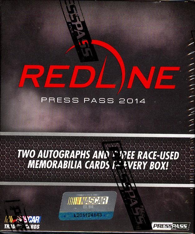 2014 Press Pass Redline Racing Hobby 10 Box Case