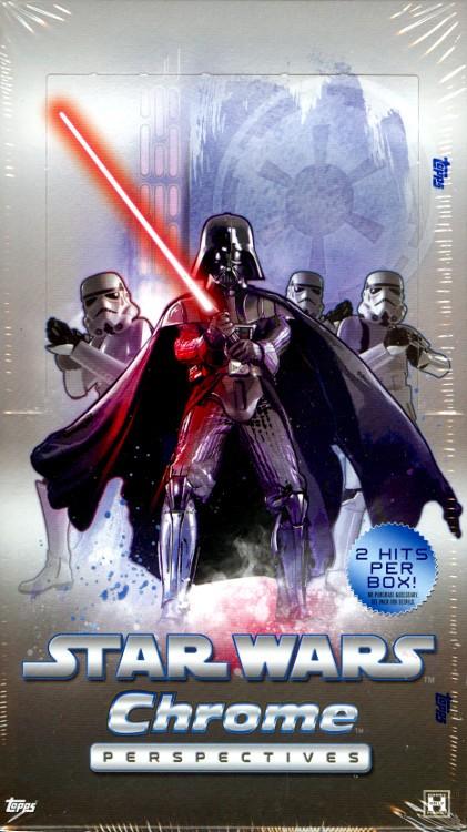 2014 Topps Star Wars Chrome Perspectives Hobby 12 Box Case