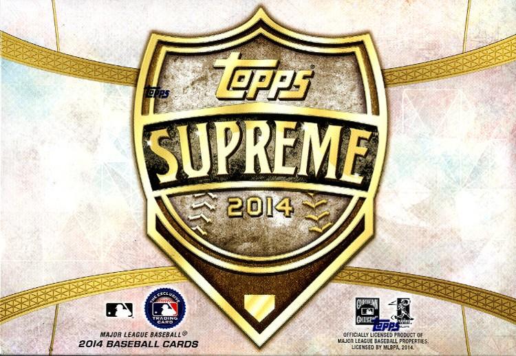2014 Topps Supreme Baseball Hobby 20 Box Case