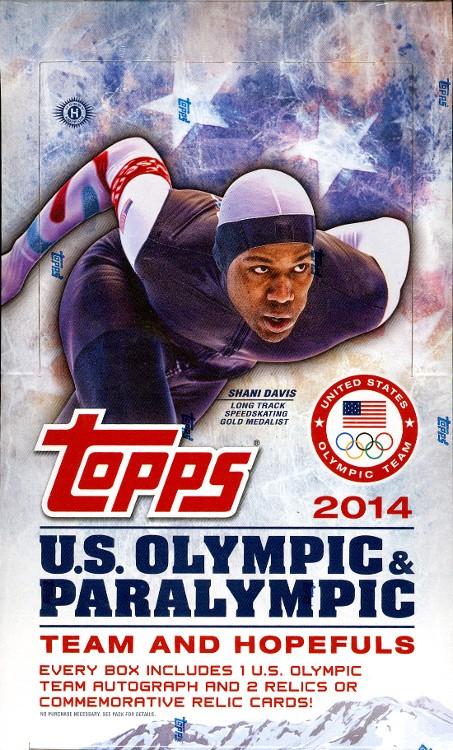 2014 Topps US Olympics Hobby 12 Box Case